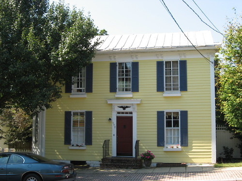 Yellow House Blue Shutters Fairwitness Flickr