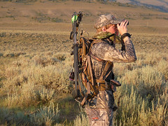 Steven Drake glassing for speed goats | by Mystery Ranch Backpacks