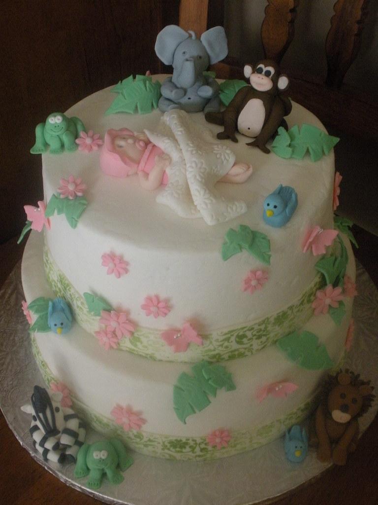 Fondant Decor On Buttercream Cake : Baby Shower Cake Buttercream with fondant decorations ...