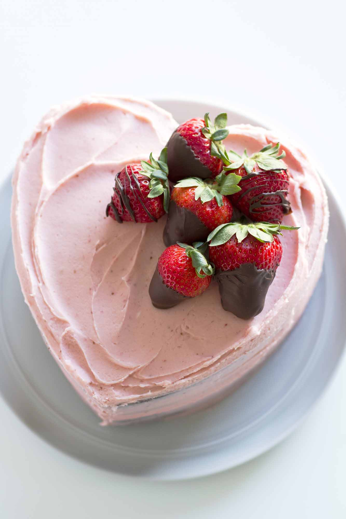 Heart Shaped Chocolate Strawberry Cake | girlversusdough.com @girlversusdough