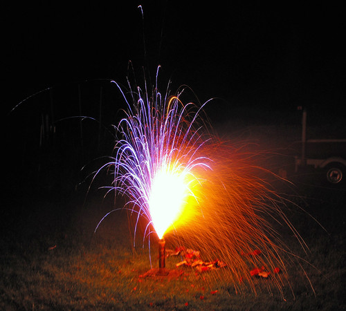 backyard fireworks we set off some fireworks in the