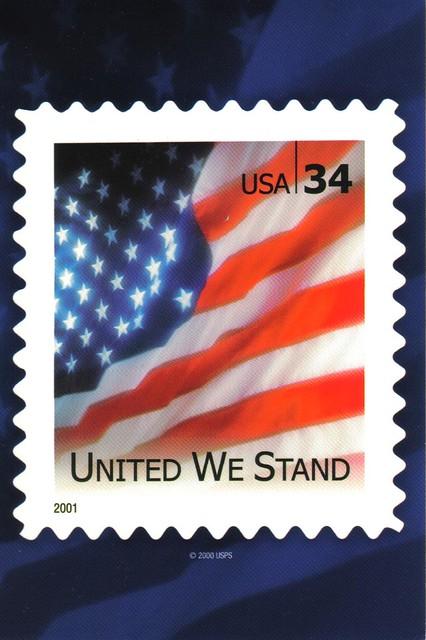 usps flag stamp postcard 34c united we stand usps flag sta flickr