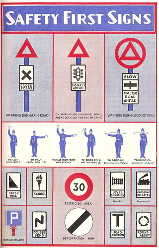 safety first signs old uk road signs c1938 an. Black Bedroom Furniture Sets. Home Design Ideas