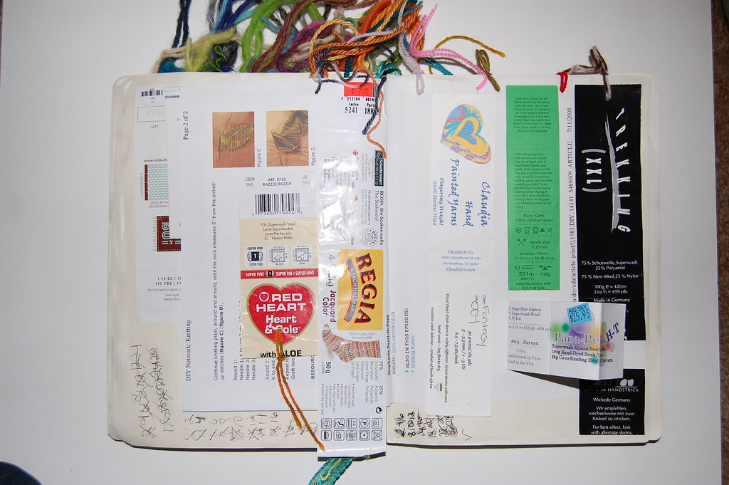 Knitting Journal Sock Pages Moleskine Suzanne Queen