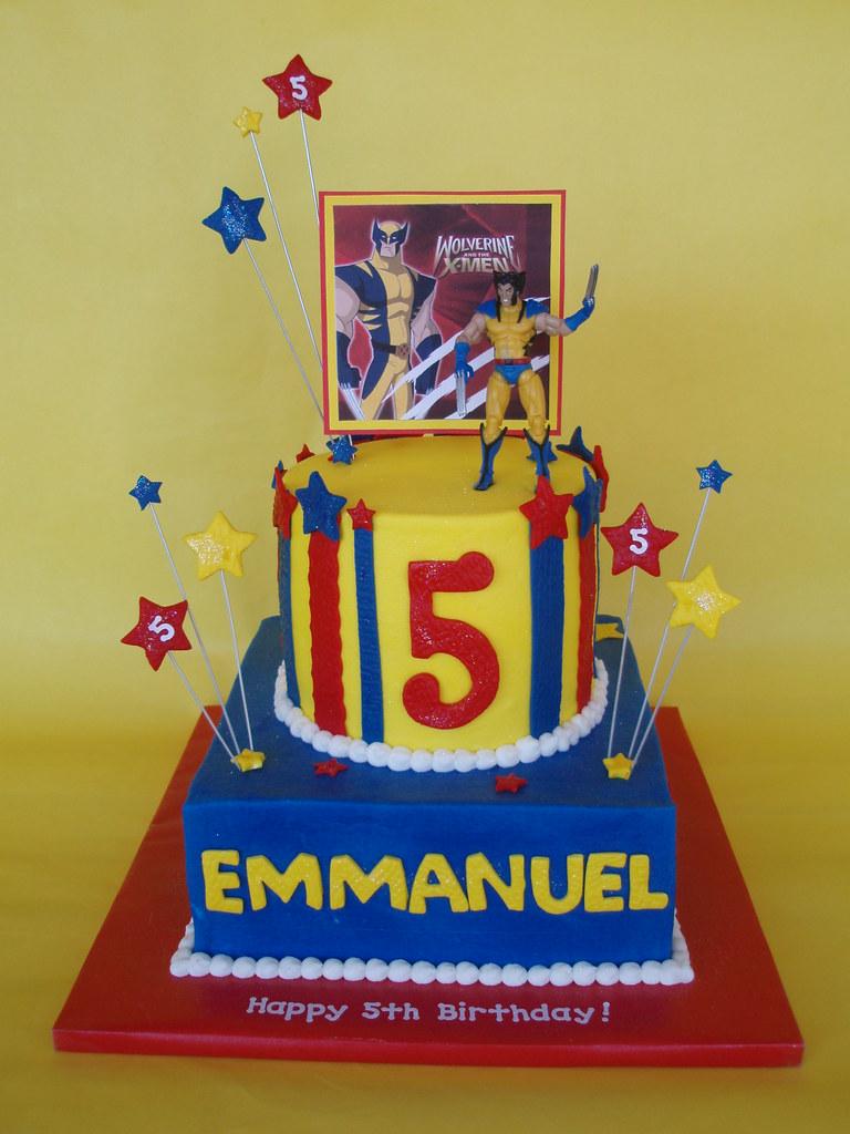Sensational X Men Wolverine Birthday Cake Last Year Emmanuel Loved Bat Flickr Personalised Birthday Cards Veneteletsinfo