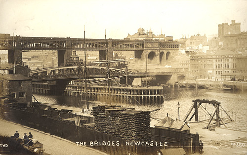 060783:Newcastle Bridges, Newcastle upon Tyne, pre-1912 | by Newcastle Libraries