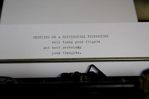 Continental Typewriter Writing Sample Dr Shordzi Flickr