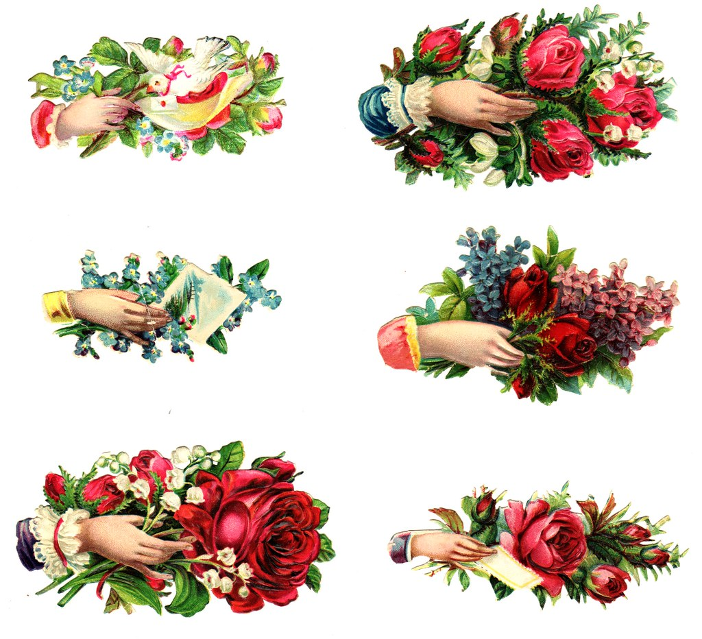 Free To Use: Victorian Scraps/Die Cuts