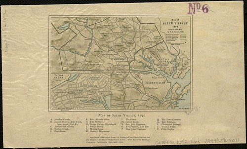 Map Of Salem Village 1692  Zoom Into This Map At Mapsbpl