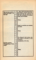 Benjamin Franklin's daily schedule | by nickbilton