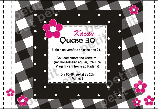 Convite online aniversário de 29 anos | Flickr - Photo Sharing!: https://www.flickr.com/photos/petitmimos/3793569562