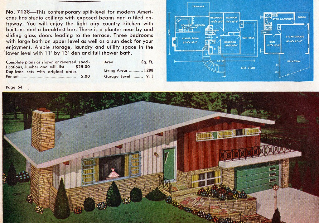 Super Homes And Plans Of The 1940S 50S 60S And 70S Flickr Largest Home Design Picture Inspirations Pitcheantrous