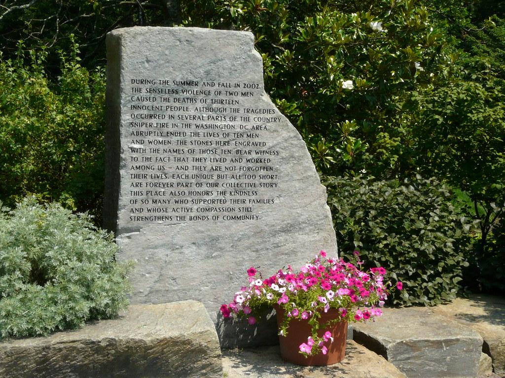 Dc Sniper Victims Memorial Dc Sniper Victims Memorial