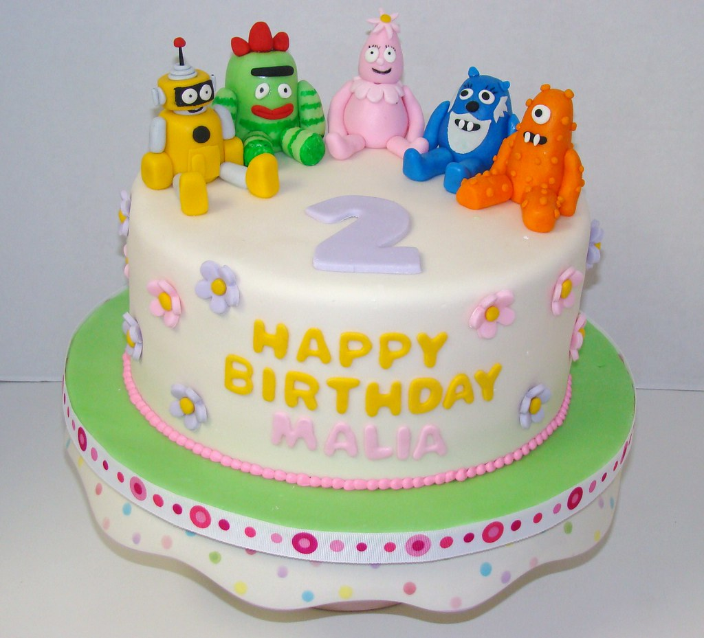 Yo Yo Gabba Gabba birthday cake | This single layer cake ...