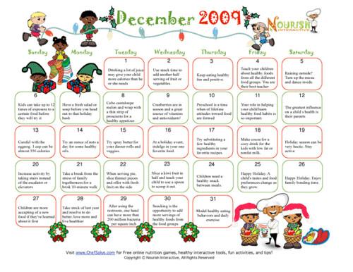 free printable december calendar healthy tips december cal…   Flickr
