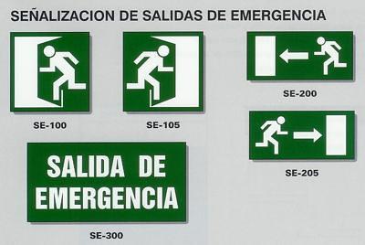 Señales Salida de Emergencia | Señales que indican la ...