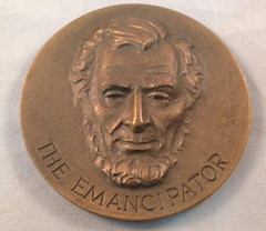 1963 Lincoln The Emancipator Medal obverse
