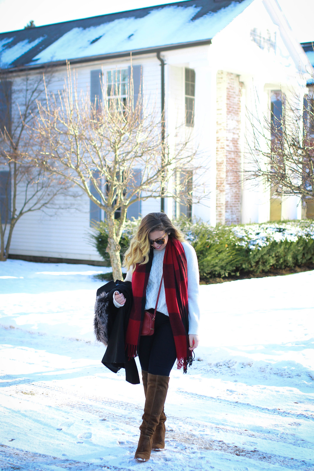 Casual Winter Outfit in Snow. What to Wear in New York in February