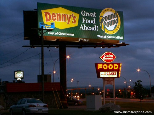 Denny S Ground Round Restaurant Billboard Dairy Queen