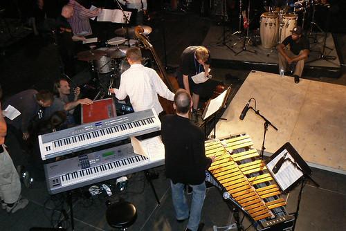 Joe Locke 'Percussion Discussion' - stage setup ...