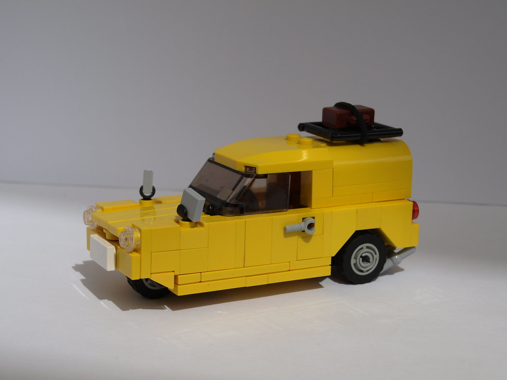 lego reliant regal supervan (finished) | here is my mini fig… | flickr
