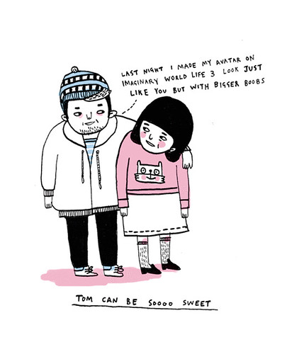 tom can be so sweet | by gemma correll