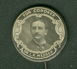 Campaign button Metzger for Coroner | by Center for Jewish History, NYC