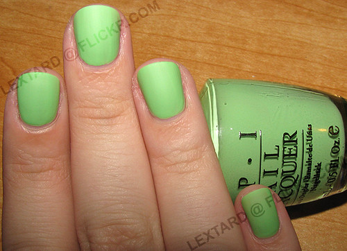 Opi Gargantuan Green Grape Blue Opi Matte Gargantuan Green