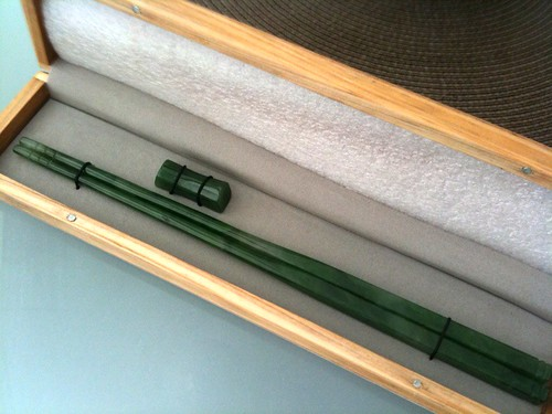 solid jade chopsticks! a present from John | by equivocality