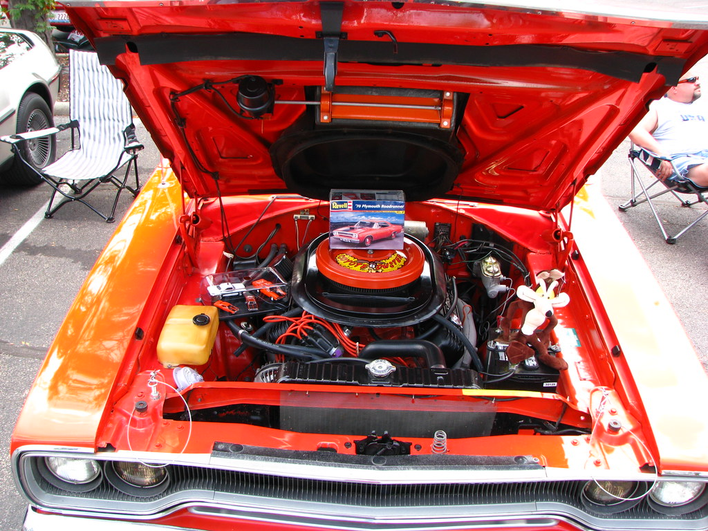 1970 Plymouth Road Runner Engine Bay Underside Of The