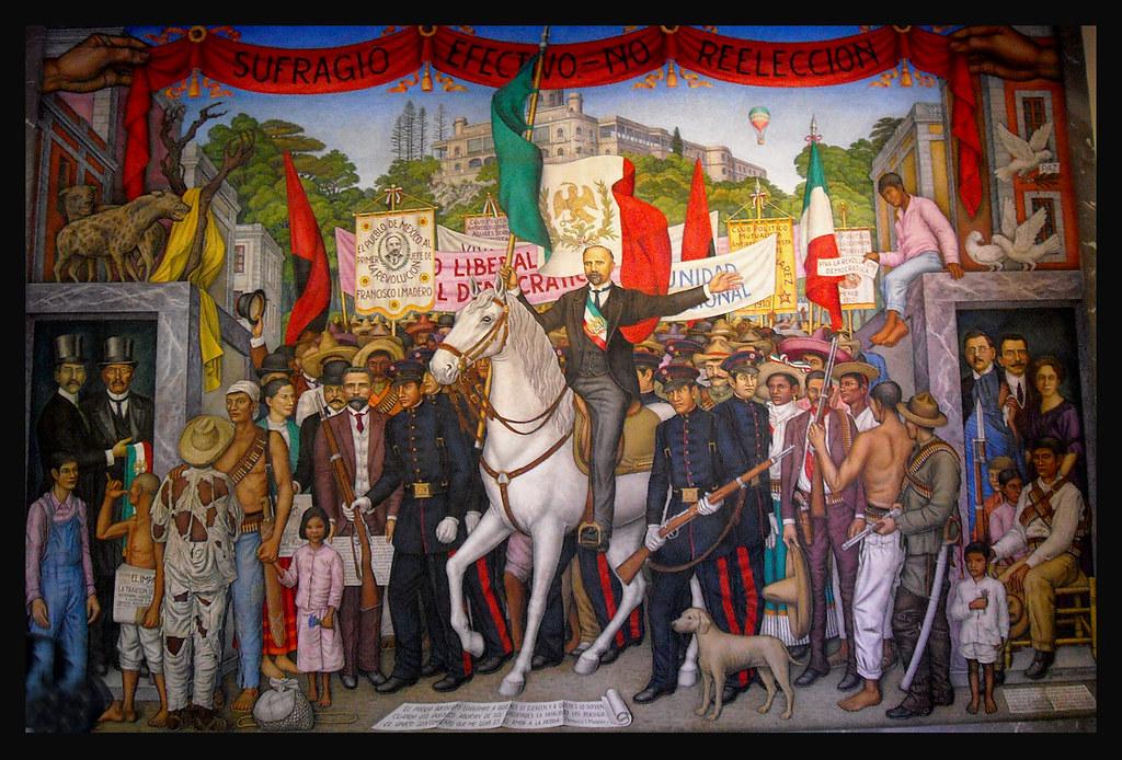 2009 10 castillo de chapultepec mural en el interior for El mural pelicula online