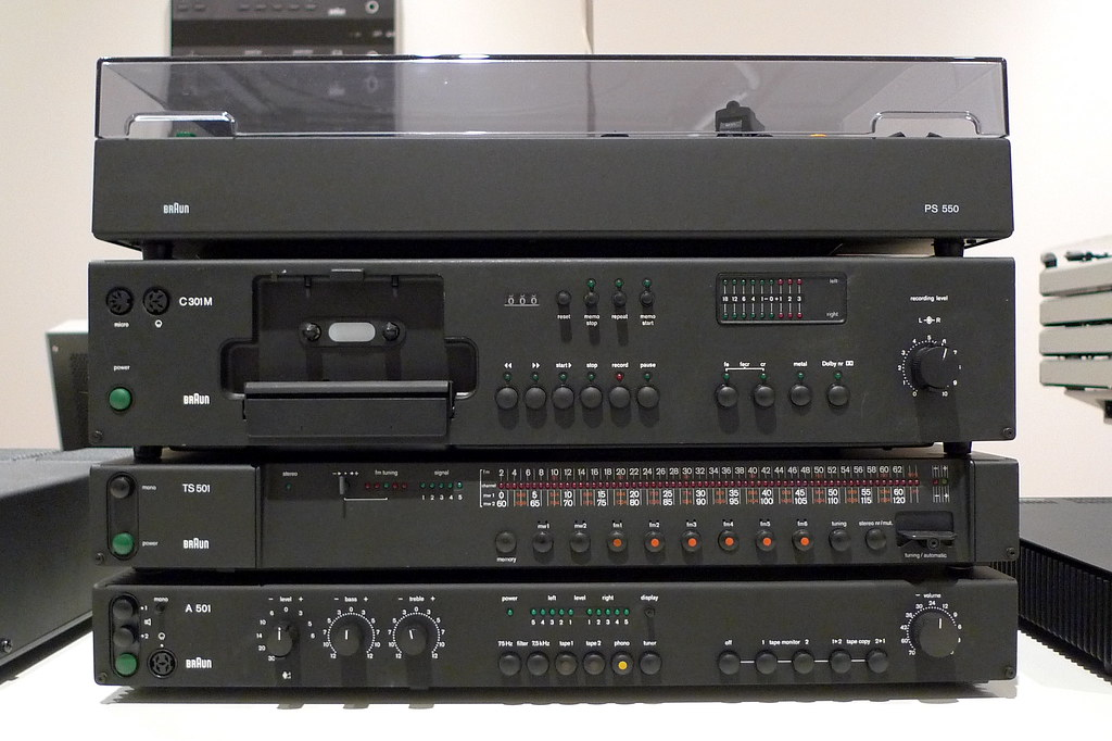 Braun Studio Hi Fi System Record Player 1976 Dieter
