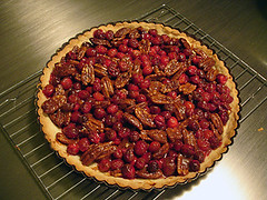 Cranberry Pecan Dulce de Leche Tart | by He Cooks She Cooks
