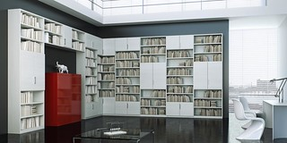 Mazzali: MDAY bookcase / libreria.  Living area | by MAZZALIARMADI.IT
