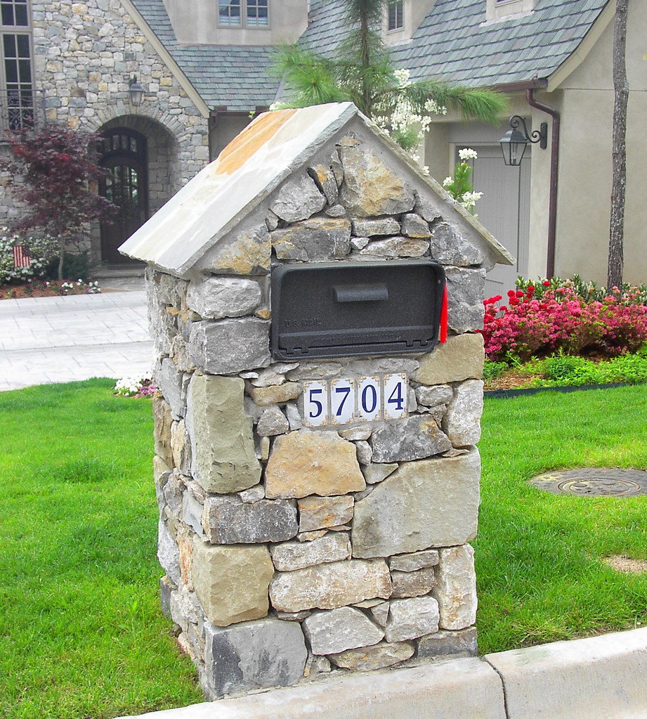 stone mailbox. Natural Stone Mailbox | By Southwest