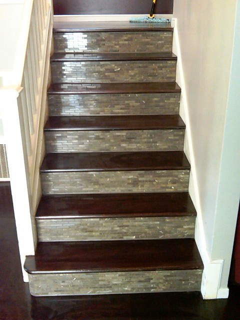 ... Patsfloorcoverings Custom Tile U0026 Wood Stairs And Wood Floor | By  Patsfloorcoverings