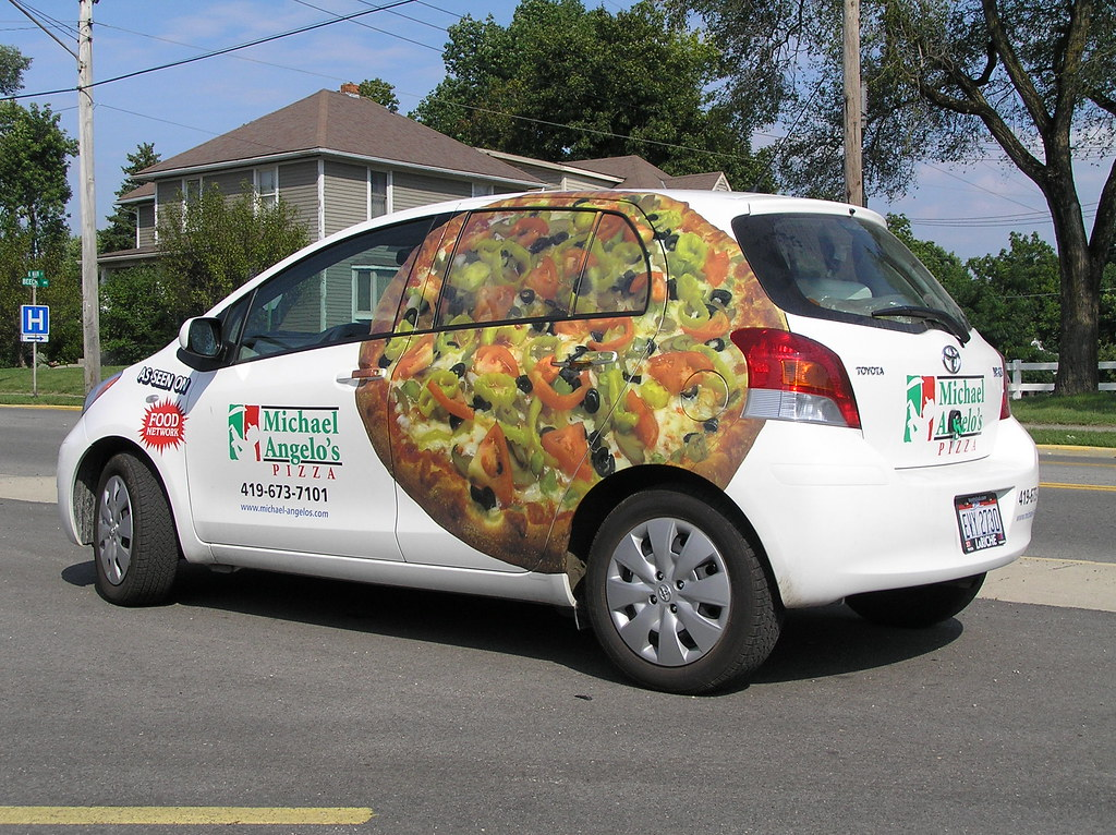 michael angelo 39 s pizza delivery car fasttrack signs flickr. Black Bedroom Furniture Sets. Home Design Ideas