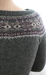 Yoke detail, Plum Frost Cardigan | by ElinorB