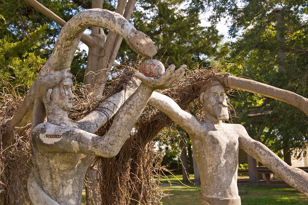 Adam, Eve, Apple, Serpent ~ Garden of Eden, Lucas, Kansas ...