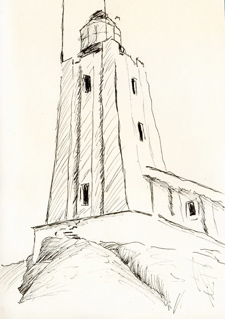 Line Drawing Lighthouse : Lighthouse line drawing of a light house
