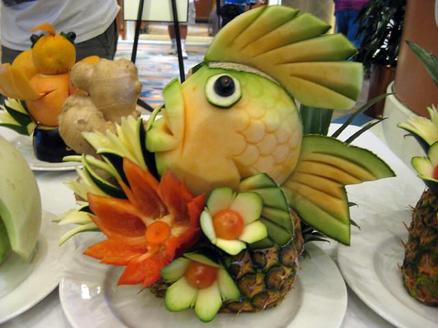 Fruit carving fish najjie flickr
