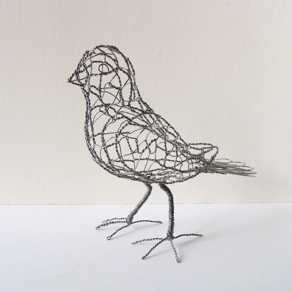 Wire Sculpture Bird B19_left_front | One of 25 wire birds - … | Flickr