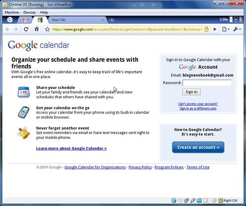 default-screen-calendar | Chrome OS Test Build | Isriya