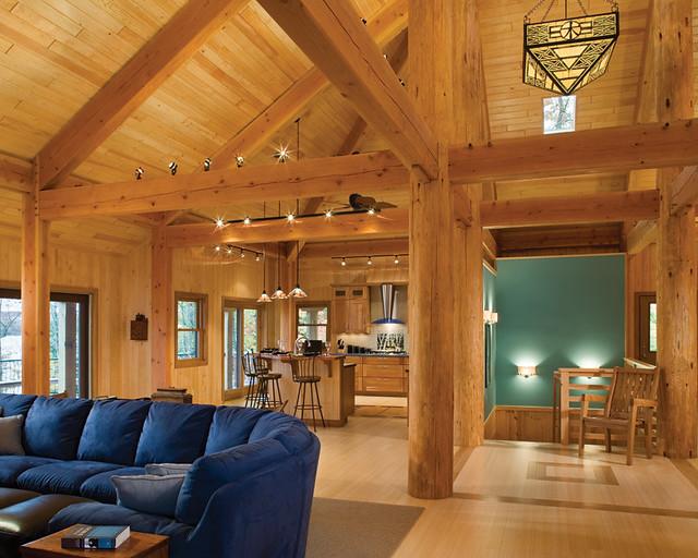 Modern Timber Living Timber Frame Home Great Room Flickr