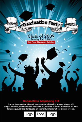 graduation party poster 2 this poster was created by. Black Bedroom Furniture Sets. Home Design Ideas