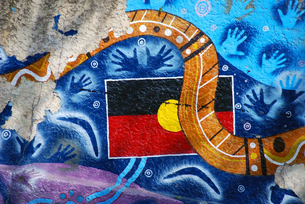 Indigenous Flag Art The Street Art Of The Australian