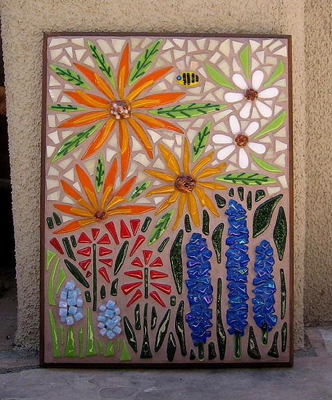 Garden Flowers Mosaic Garden Flower Mosaic Made With