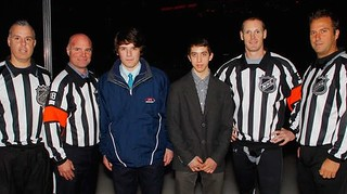 Ryan Siegel and Bobby Esposito Meet the NHL Officials Before the NJ Devils - San Jose Sharks Game | by Dave Aiello