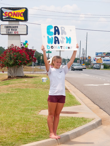 Force Cheerleader Carwash at Sonic Drive-In-8635 | by Billy Wright photos