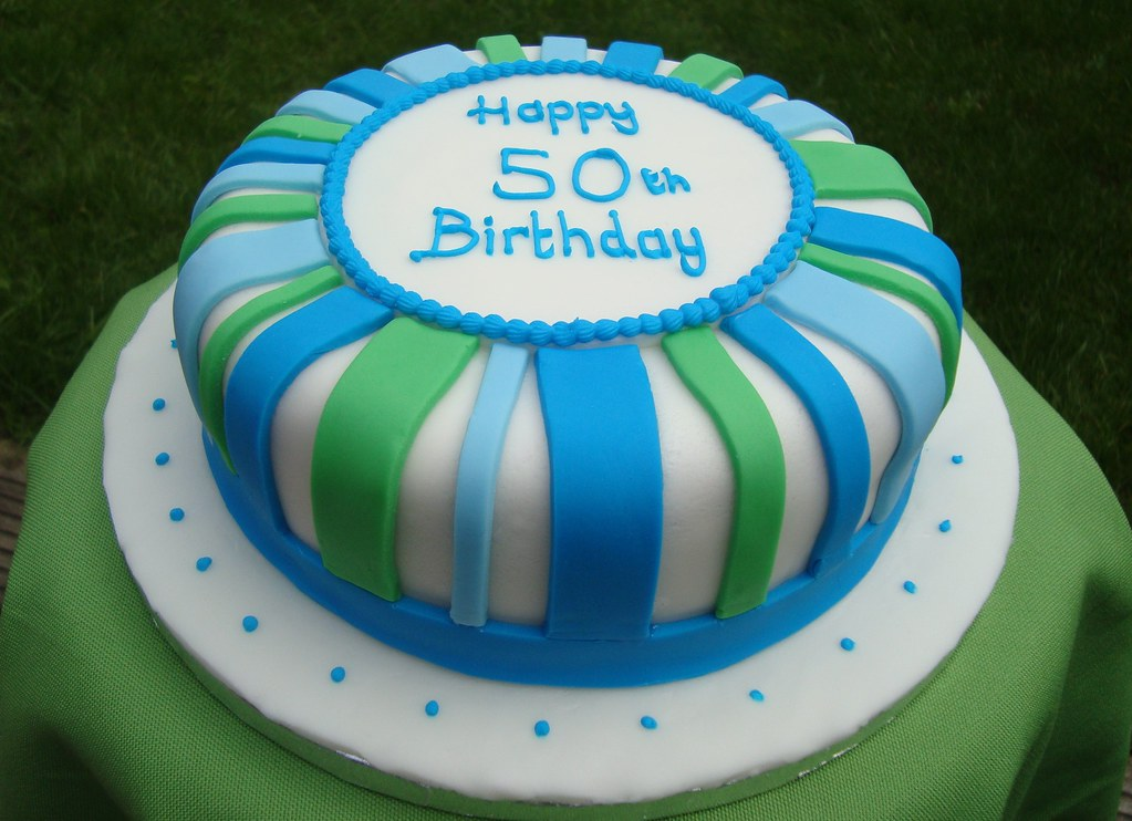 50th birthday cake  Madeira cake covered in and decorated w ...